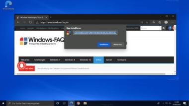 Webseite als PWA installieren mit dem Edge Chromium