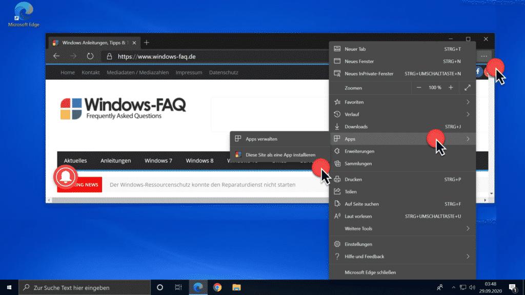Diese Site als eine App installieren (PWA)