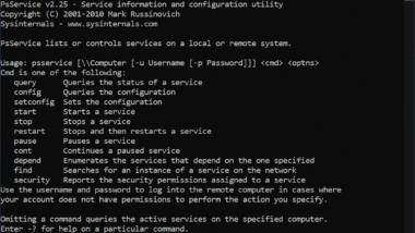 Windows Dienste remote per PSSERVICE starten oder stoppen