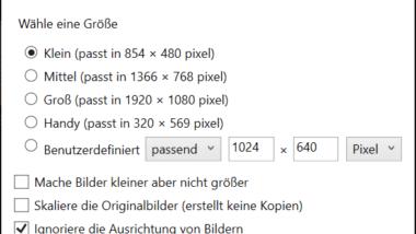 Bilder einfach komprimieren direkt im Windows Explorer