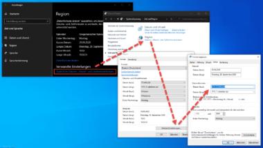 Wochentag in der Datumsanzeige der Windows Taskleiste anzeigen lassen