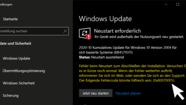 Windows Update Fehlercode 0x80070005