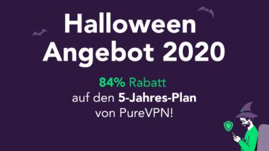Halloween Angebot: 84% Rabatt auf den 5-Jahres-Plan von PureVPN für Windows