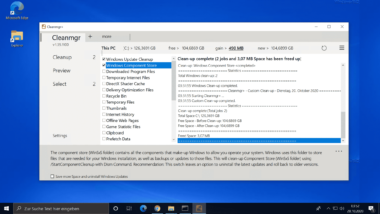 Windows 10 Datenträgerbereinigung CleanMgr+