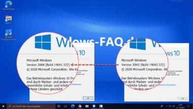 Deinstallation Windows 10 20H2 (2009) – Probleme mit dem Windows Update