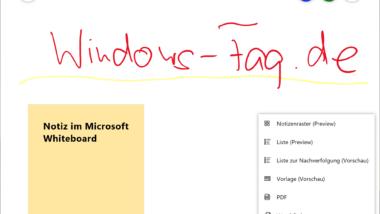 Microsoft Whiteboard App – Freihand Zeichnen mit dem Windows PC