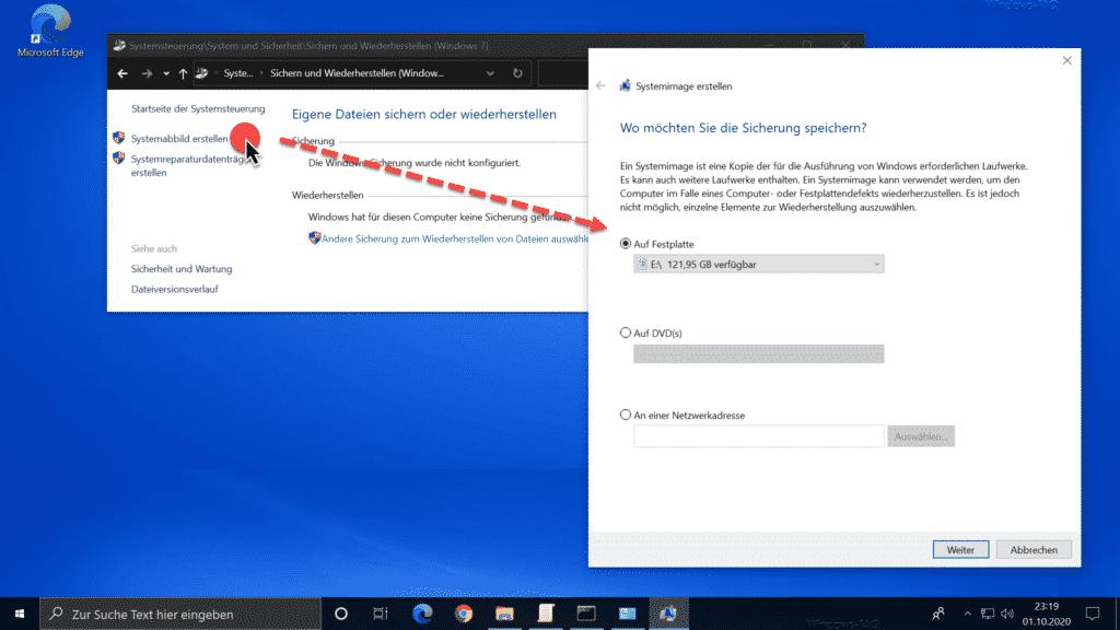 Windows Systemabbild erstellen