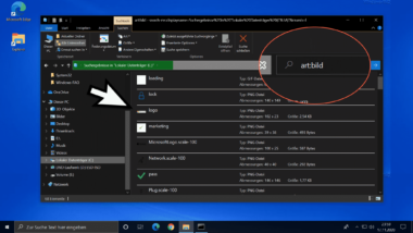 Bilder oder Fotos im Windows Explorer suchen