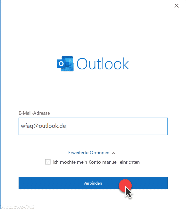 Hotmail, Outlook.com oder Live E-Mailadresse im Outlook