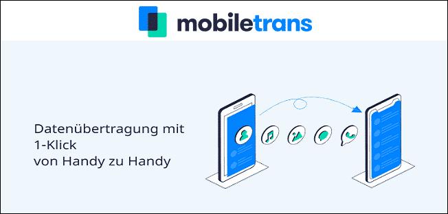 Mobiletrans Datenübertagung mit 1-Klick