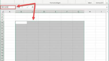 Zellbereiche schnell markieren im Excel