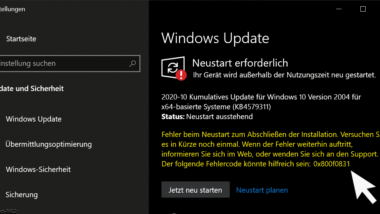Windows Update Fehlercode 0x800f0831
