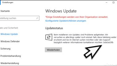 0x8e5e03fb Fehlercode beim Windows Update