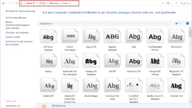 Wo werden die Windows Schriftarten gespeichert?