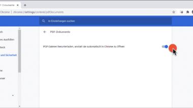 PDF Dateien im Chrome nicht automatisch öffnen sondern nur downloaden