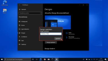 Windows 10 Design speichern und anpassen