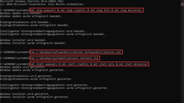 Fehlercode 0X8e5e0152 beim Windows Update