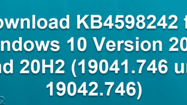 Download KB4598242 für Windows 10 Version 2004 und 20H2 (19041.746 und 19042.746)