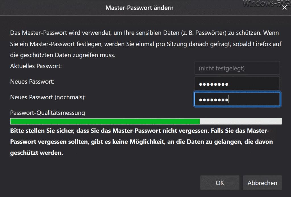 Firefox Masterpasswort