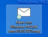 Outlook E-Mail als MSG Datei auf Desktop gespeichert