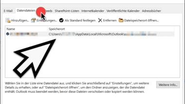 Wo ist die Outlook PST-Datei gespeichert