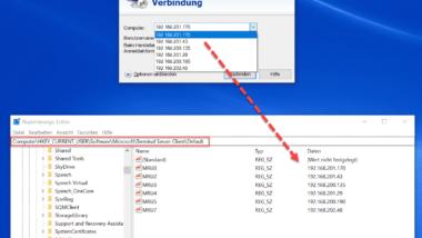 Einträge der Remote Desktop Verbindung löschen