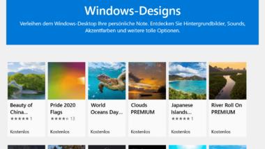 Kostenlose Windows-Designs downloaden