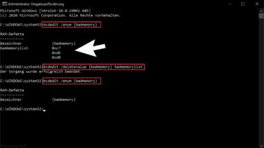 Ramfehler bei Windows mit BCDEDIT auslesen