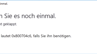 Fehlercode 0x800704c6 im Microsoft Store