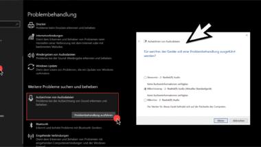 Probleme beim Aufzeichnen von Audiodateien bei Windows 10