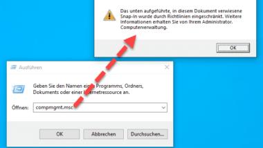 Zugriff auf Computerverwaltung per GPO verhindern