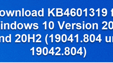 Download KB4601319 für Windows 10 Version 2004 und 20H2 (19041.804 und 19042.804)