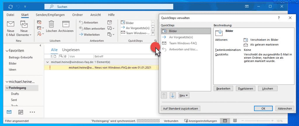 QuickSteps Outlook