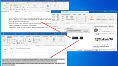 Text markieren und schnell in leere E-Mail kopieren mit Outlook