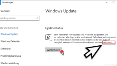 0x80240023 Fehlercode beim Windows Update
