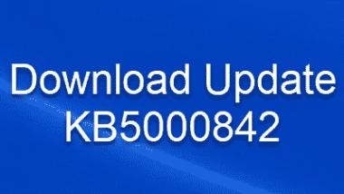 Download Update KB5000842 für Windows 10 Version 20H2/2004 Build 19041.906 und 19042.906