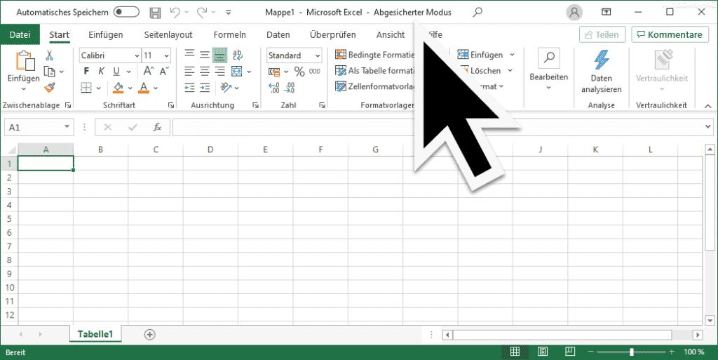 Excel abgesicherter Modus