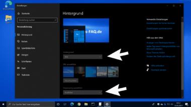 Verhindern das Windows Anwender den Desktophintergrund ändern können