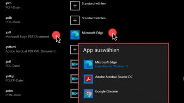 Standard PDF-Programm zum Öffnen von PDF-Dateien bei Windows 10 festlegen