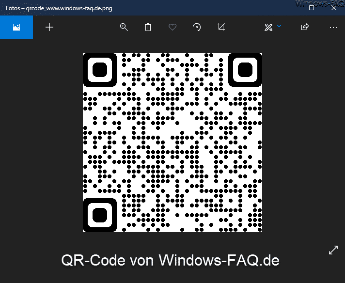 QR-Code von Windows-FAQ.de