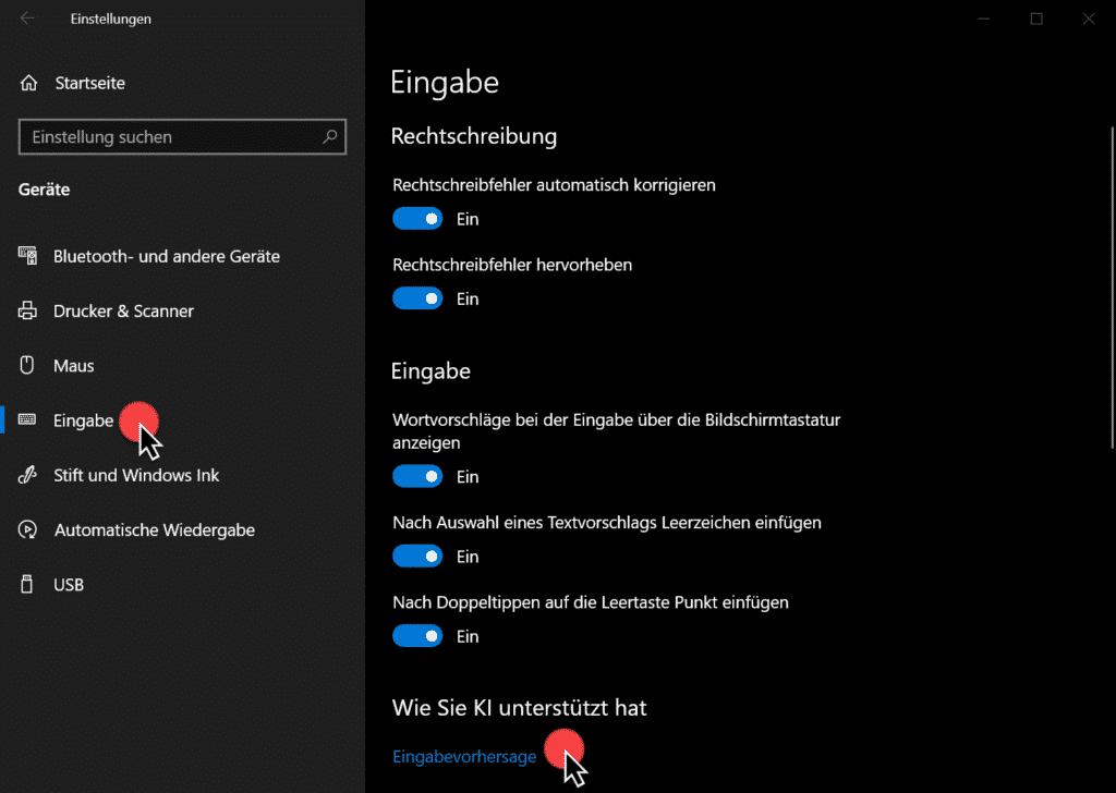 Windows 10 Wie Sie KI unterstützt hat bei der Eingabe