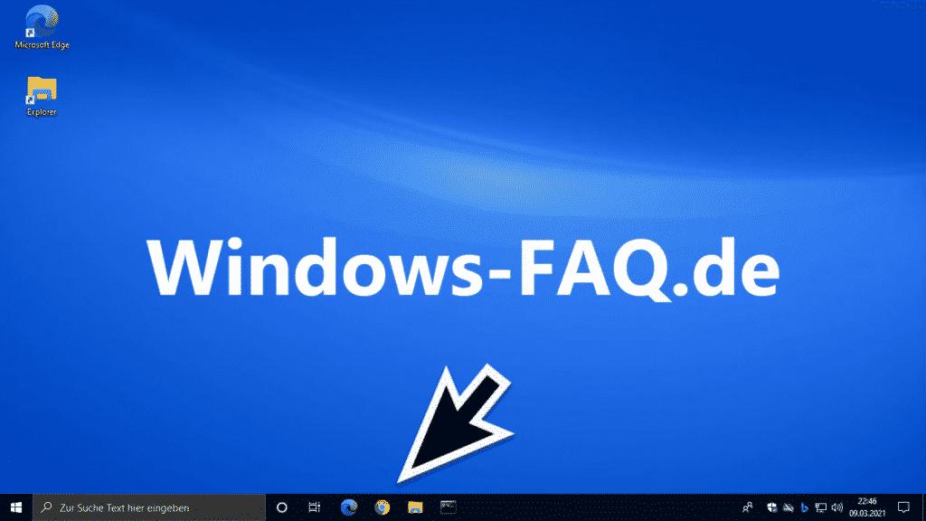 Windows Taskleiste mit angehefteten Programmen