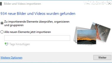 Smartphone Bilder und Videos einfach importieren bei Windows 10