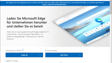 ADM/ADMX Gruppenrichtlinien-Vorlagen für den Microsoft Edge Chromium