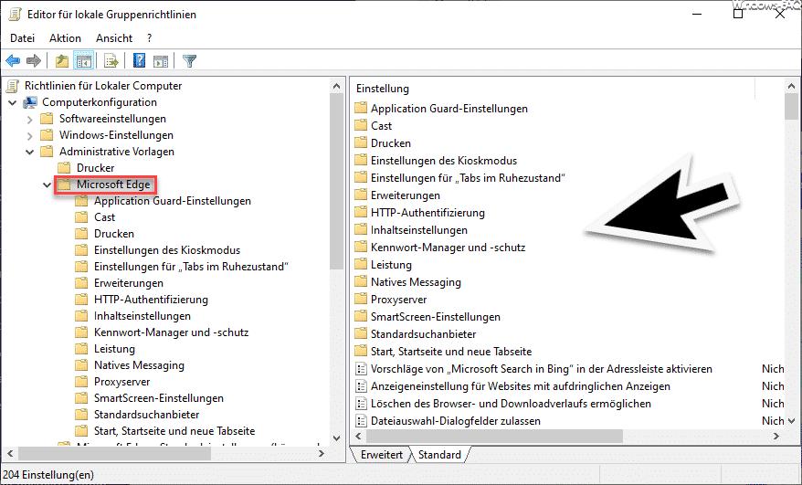 Microsoft Edge Gruppenrichtlinien