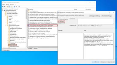 Numerische Sortierung im Windows Explorer umstellen