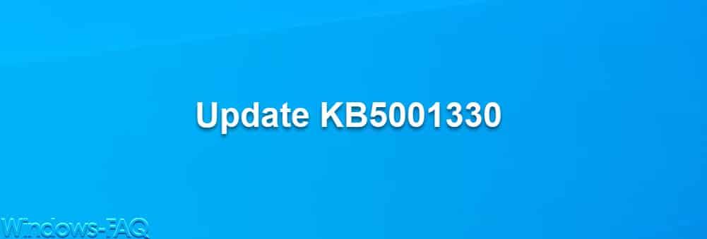 Update KB5001330