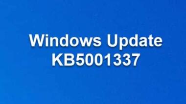 Windows Update KB5001337 für Windows 10 Version 1909 Build 18363.1500