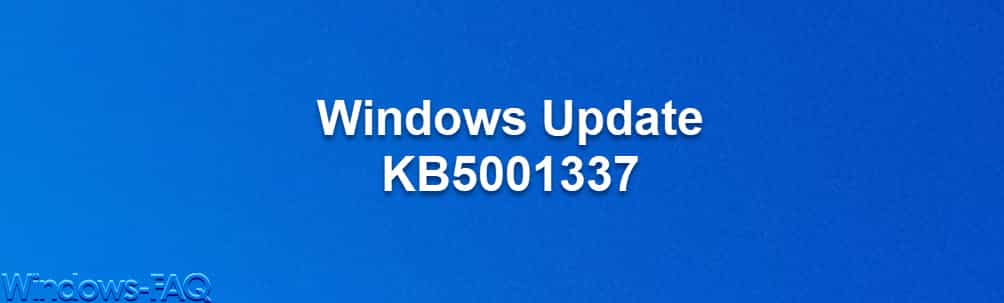 Windows Update KB5001337