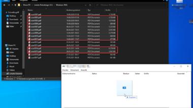 Mehrere Dateien auf einmal drucken bei Windows